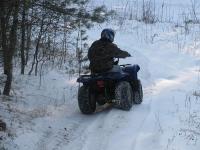 на квадроцикле по снегу